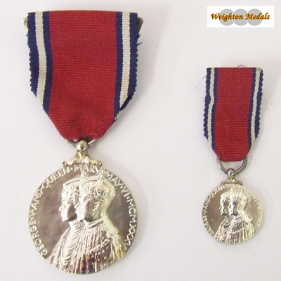 1935 Jubilee Medal & Minature