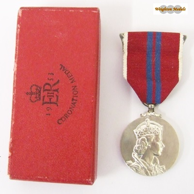 1953 QEII Coronation Medal - Boxed