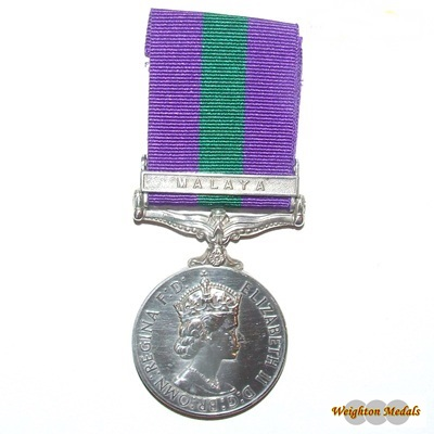 General Service Medal - Malaya Clasp - Pte. S J Lloyd