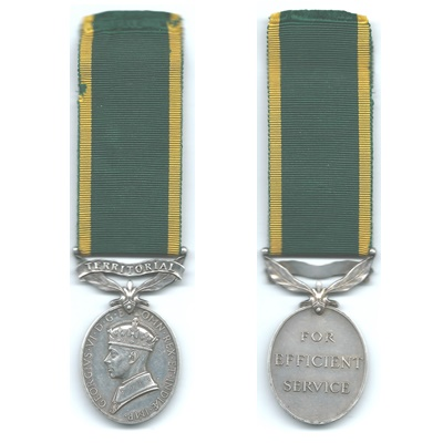 Efficiency Medal – Territorial - BDR. P J Fenlon