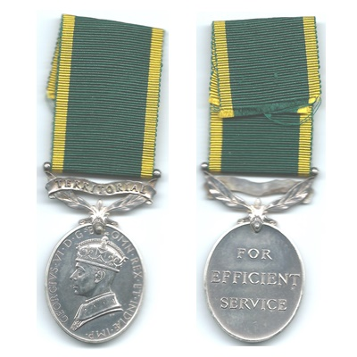 Efficiency Medal – Territorial - PTE. D Middleton