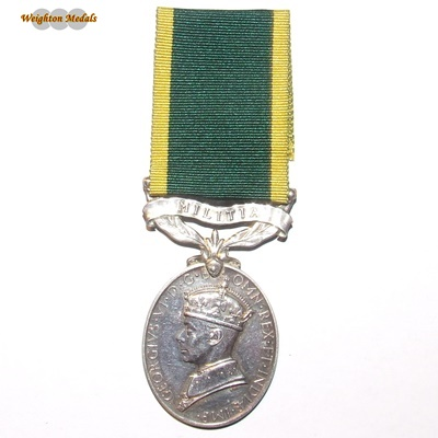 Efficiency Medal – Territorial - Spr. A J Bennett