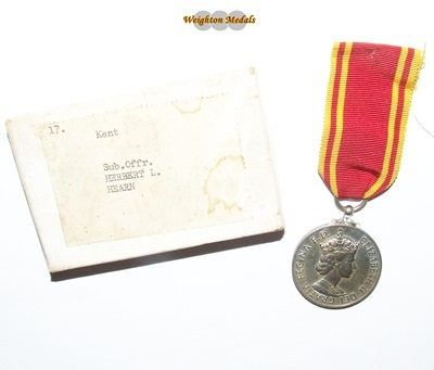 Fire Brigade Long Service Medal - H L HEARN