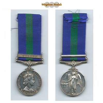 General Service Medal - Malaya Clasp - Gnr. B S Deakins