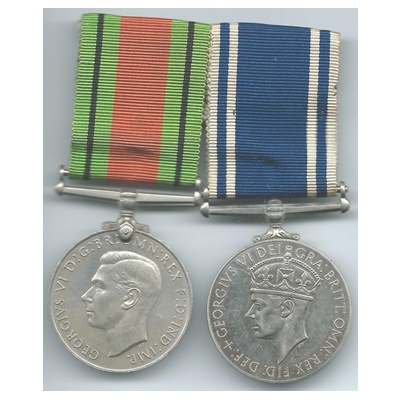 Police LS & GC and Defence Medal - Sergt. George M Smith