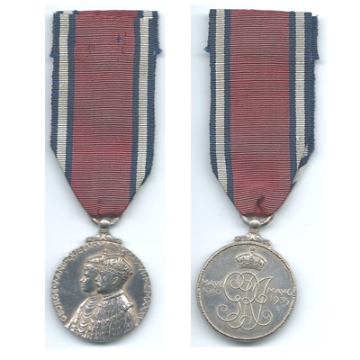 1935 Jubilee Medal - Un-named As Issued