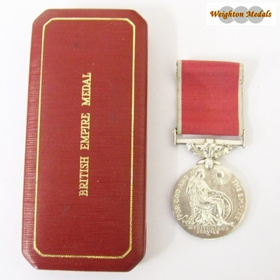 British Empire Medal ER II - Civil - Ellis Rowley