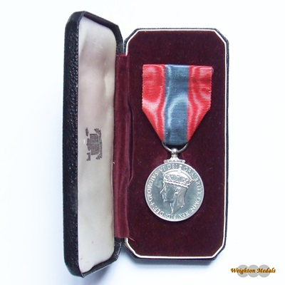Imperial Service Medal GVI FID DEF - John Richard LORD
