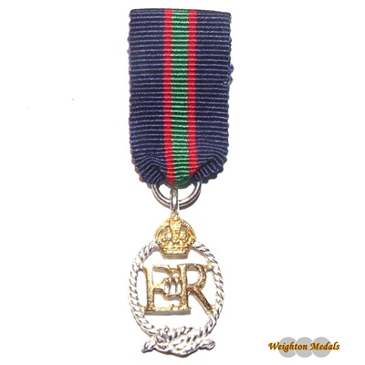Royal Naval Volunteer Reserve Decoration Miniature